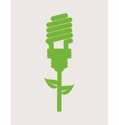 Green energy icon vector