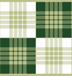 Green gray white tartan plaid seamless pattern vector