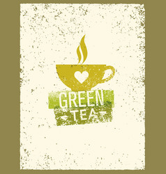 Green tea rough design element concept vector