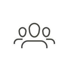 group people icon line persons symbol vector image