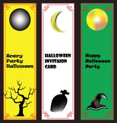 Halloween Background on Chinese frame vertical vector
