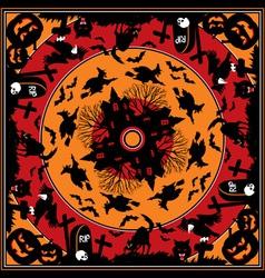 halloween square vs vector image