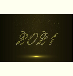 happy new year 2021 background template for your vector image