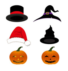 Hat holiday set vector