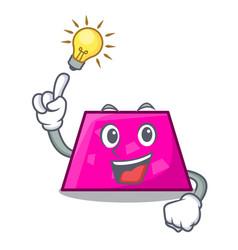 Have an idea trapezoid mascot cartoon style vector