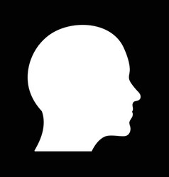 head outline shape vector image