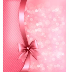 Holiday pink background with old paper and gift vector image vector image