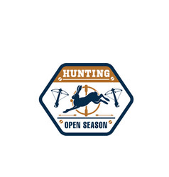 Hunter club isolated badge with wild animal vector