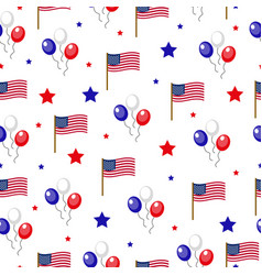 independence day of america seamless pattern july vector image