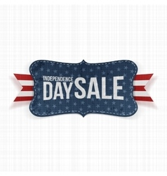 Independence Day Sale patriotic Label vector image