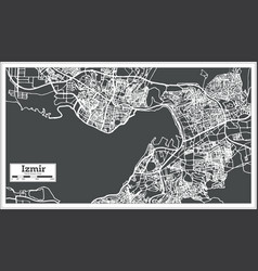 Izmir turkey map in retro style vector