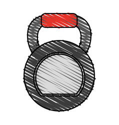 Kettlebell exercise equipment icon image vector