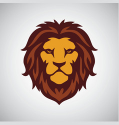 Lion head mascot logo template vector