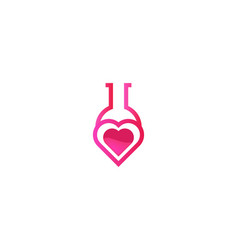 Love laboratory logo designs inspiration isolated vector