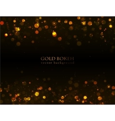 Magic sparkle gold dots on dark background vector