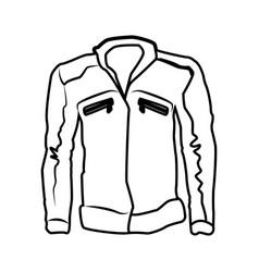 men leather jacket vector image