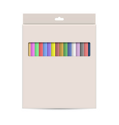 Packing with colored pencils vector