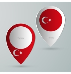 paper of map marker for maps turkey vector image