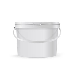 plastic bucket with handle layout vector image
