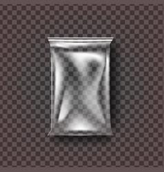 plastic food bag transparent pillow food vector image
