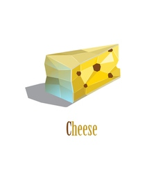 polygonal of cheese vector image