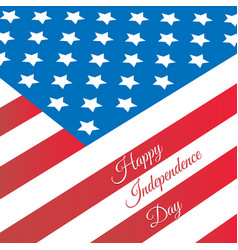 poster design for independence day united states vector image