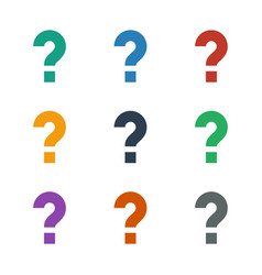 Question icon white background vector