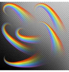 Rainbows in different shape realistic set EPS 10 vector image