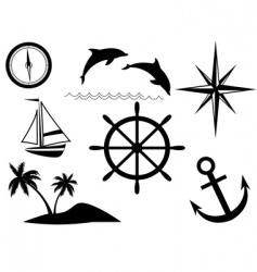 sea signs vector image