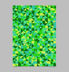 seamless green triangle tile poster template vector image