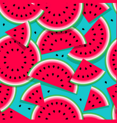 Seamless pattern watermelon vector
