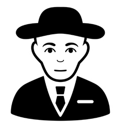 Secret Service Agent Flat Icon vector