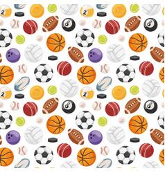 Set balls isolated seamless pattern vector