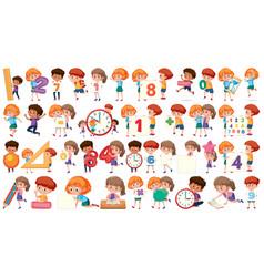 set math children vector image