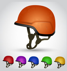 Set of sport helmet vector