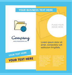 Shared folder company brochure template busienss vector