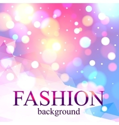 Shining fashion blur bokeh background for beauty vector image