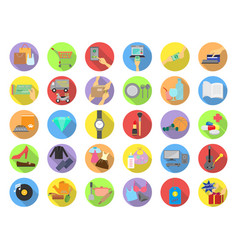 Shopping categories flat icons vector