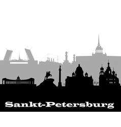 silhouette of Sankt Petersburg vector image