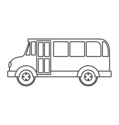 silhouette school bus with wheels vector image