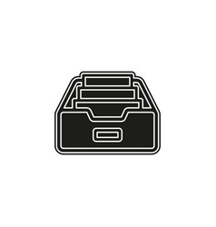 simple folder archive icon vector image