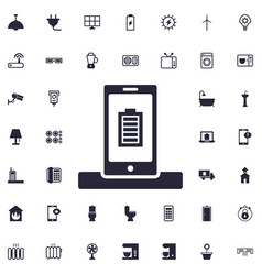 Smartphone full charged icon vector