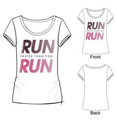 sport fashion print t shirt vector image
