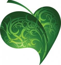 tattoo design leaf vector image