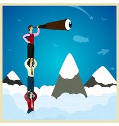 Teamwork vector image