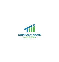 Ti accounting growth logo design vector