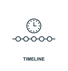 timeline outline icon thin line concept element vector image