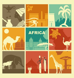 traditional symbols africa vector image