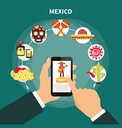 travel to mexico vector image