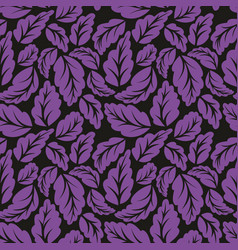 Violet leaves seamless pattern vector